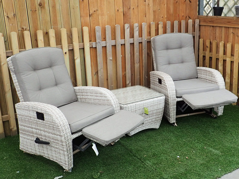 cream coloured garden furniture chair set